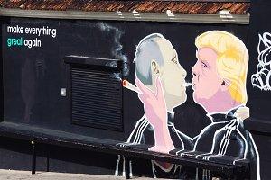 Putin and Trump smoking joint
