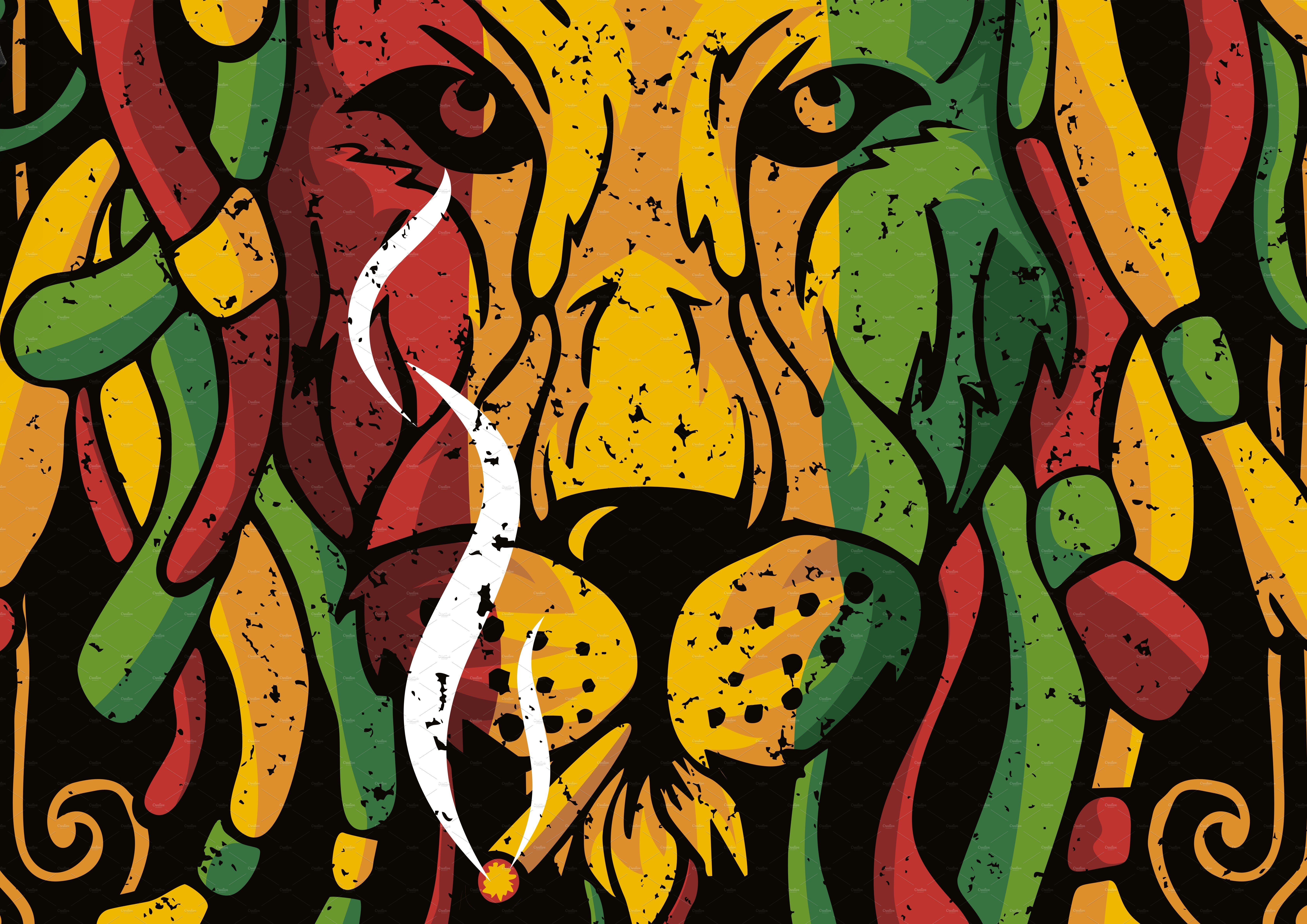 Lion Rasta Vector ~ Graphics ~ Creative Market 290f70ea6f3