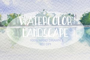 Watercolor Hand Drawn Landscape 001