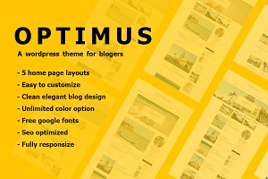 Optimus - Simple Blog Theme Wordpres