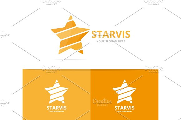 Vector Of Star Logo Combination Leader And Celebrate Symbol Or Icon Unique Achievement And Luxury Logotype Design Template
