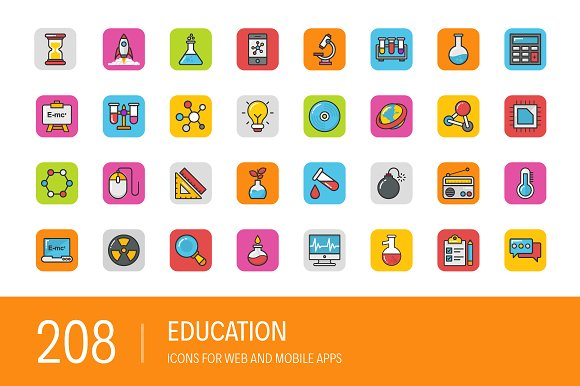208 Education Icons