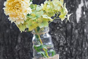 hanging vase with flower