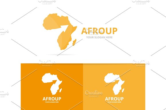 Vector Africa And Arrow Up Logo Combination Safari And Growth Symbol Or Icon Unique Geography Continent And Upload Logotype Design Template