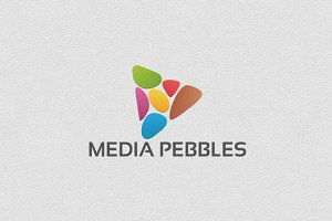 Media Pebbles -Logo Template