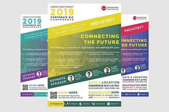 corporate business event flyer flyer templates creative market