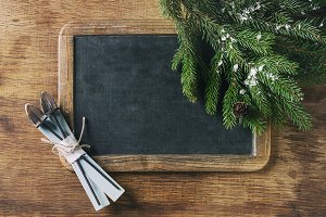 Chalkboard and Christmas tree