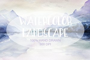 Watercolor Hand Drawn Landscape 006