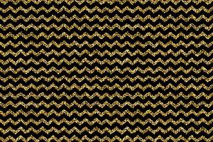 Gold glitter dots zigzag pattern