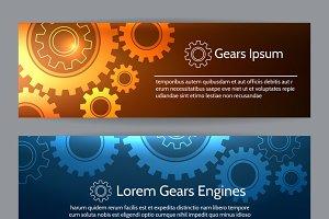 Digital engineering banner set