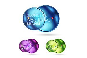 Glass circle abstract web banner design