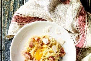 Italian pasta carbonara