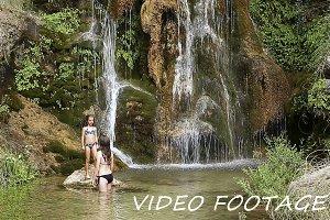 Sisters bathing in the Batán