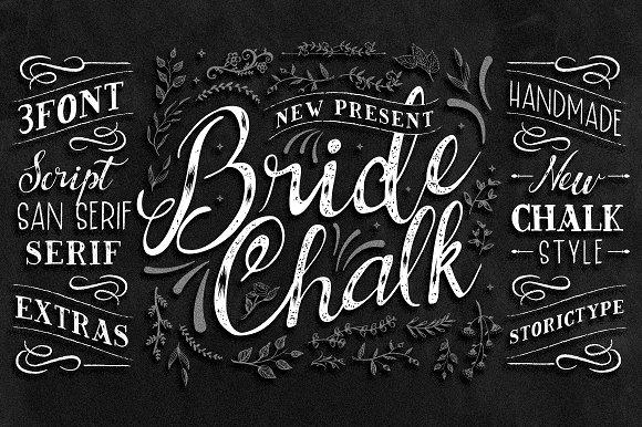 bridechalk typeface script fonts creative market