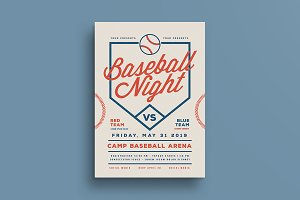 Baseball Night Flyer