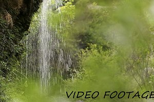 Natural space with waterfalls