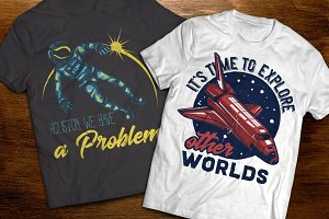 Space t-shirts and posters