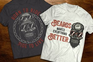 Biker skull t-shirts and posters