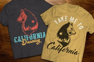 California t-shirts and posters