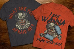 Scary Clown t-shirts and posters