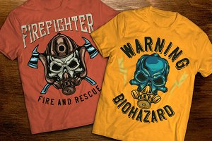 Firefighter t-shirts and posters
