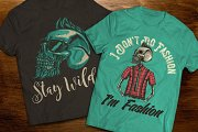 Hipster t-shirts and posters