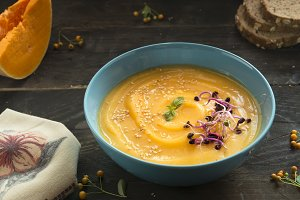 Soup of pumpkin