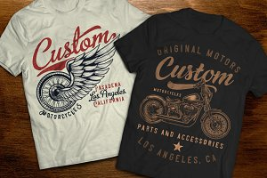 Motorcycle t-shirts and posters