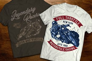 Motoracer t-shirts and posters