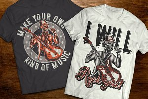 Music t-shirts and posters