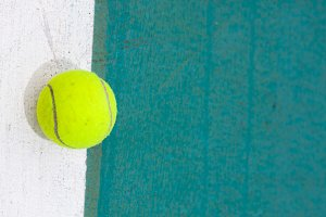 Tennis ball on the field.