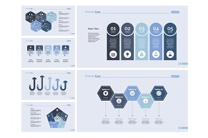 Six Finance Charts Slide Templates Set