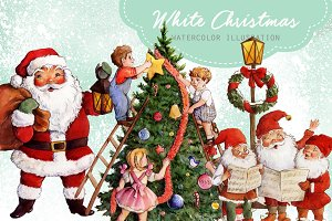 White Christmas Clipart Images