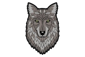 Embroidery Wolf Head Patch