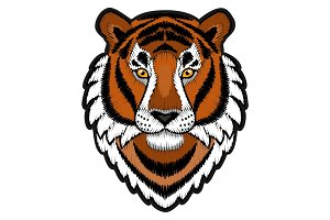 Embroidery Tiger Head Patch