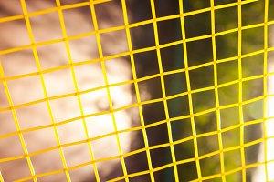 Tennis nets.