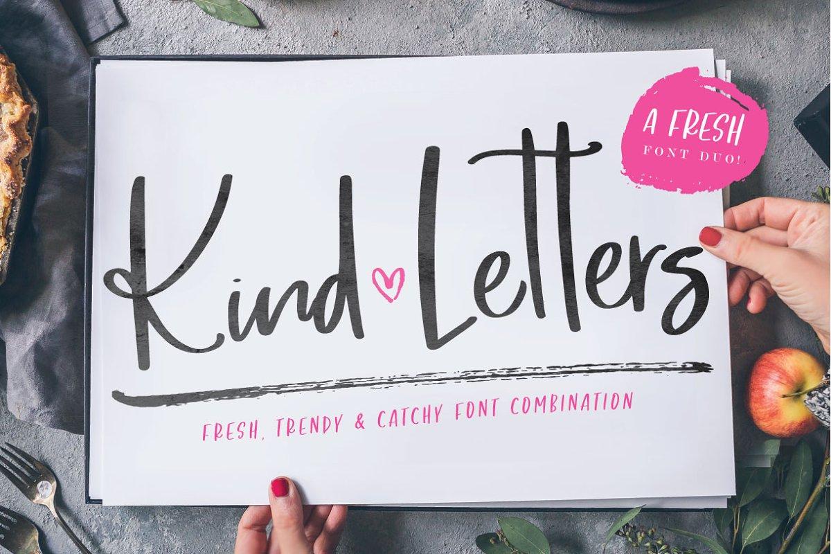 Kind Letters font duo ~ Script Fonts ~ Creative Market