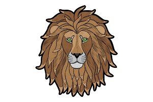 Embroidery Lion Head Patch