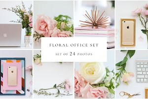 Office with Pink Floral
