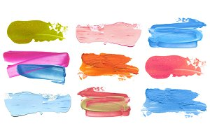 acrylic color brush strokes