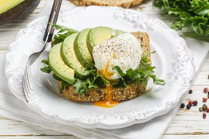 Toast with poached egg
