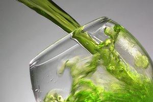 Green coctail splash