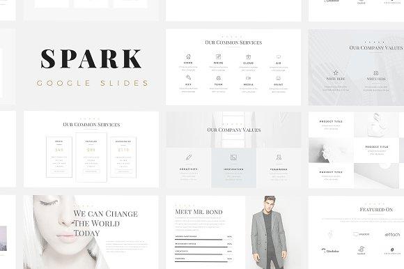 spark minimal google slides template presentation templates