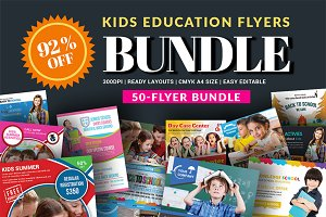 50-School Flyers Bundle