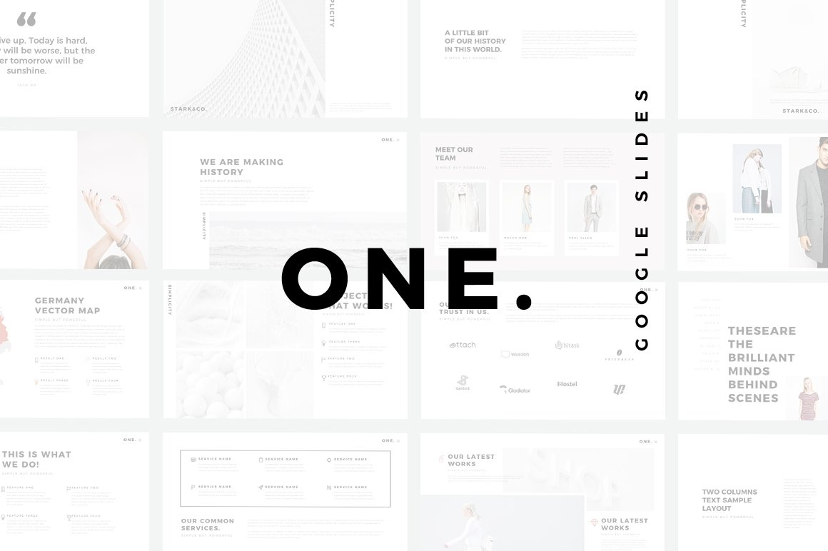 ONE. Minimal Google Slides Template ~ Google Slides