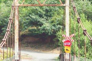 Wooden suspension bridge, Georgia