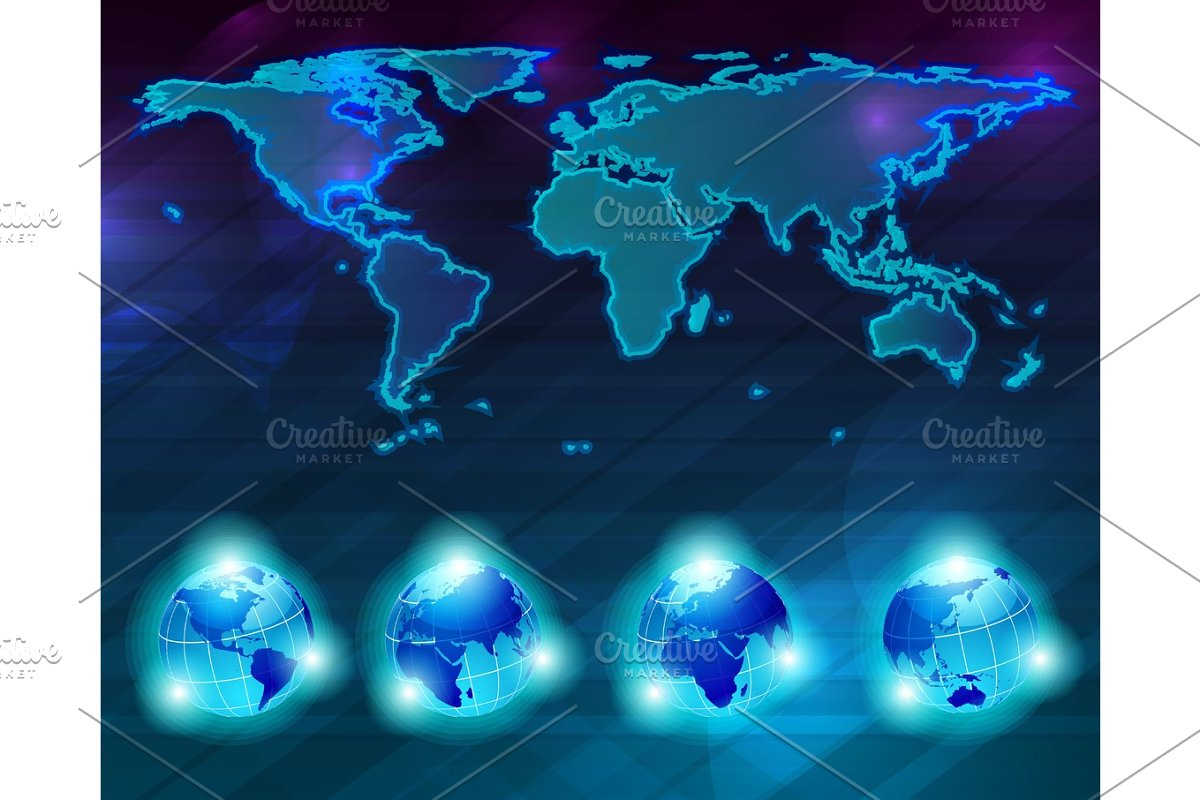 World Map Background Illustrations Creative Market