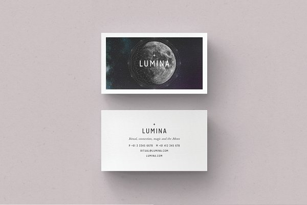 Business Card Templates: 46&2 Collective - LUMINA Business Card Template