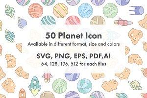 Planet Icon Set