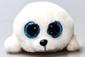 white plush seal